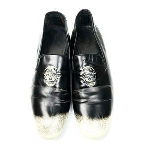 ALEXANDER MCQUEEN TWO-TONE LOAFERS